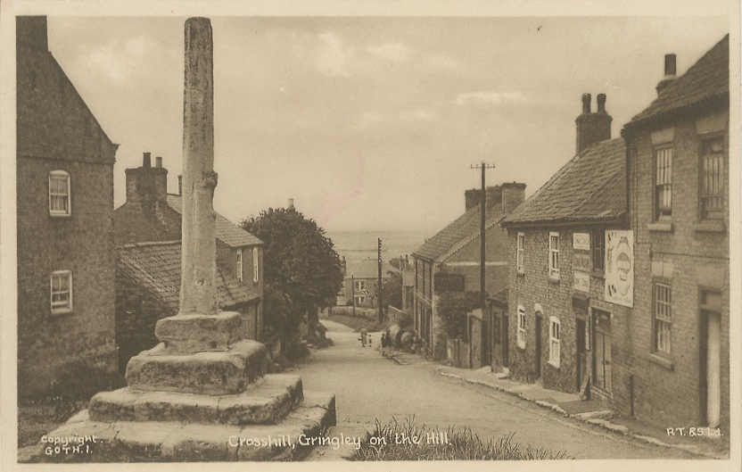 Gringley Tuck Sepia Old Postcards Heidi Cross Hill looking north